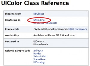 Xcodeのクラスの解説画面