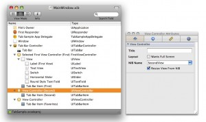 別のnibファイルを指定する設定